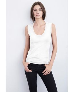Estina Gauzy Whisper Tank Top