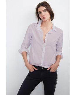 Minnie Button-down Cotton Shirt