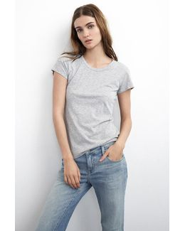 Odelia Cotton Slub Crew Neck Tee