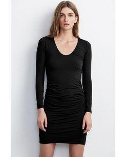 Shayla Gauzy Whisper Shirred Dress
