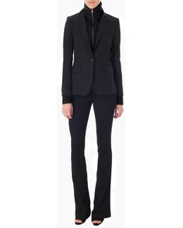 Long And Lean Jacket With Black Upstate Dickey