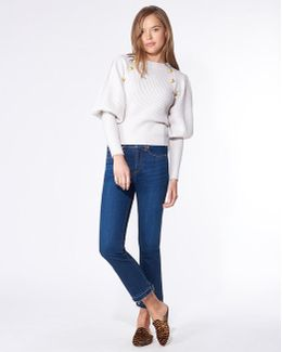 Jude Leg Of Mutton Sleeve Button Sweater