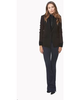 Long And Lean Jacket With Uptown Dickey