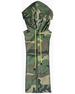 Long And Lean Jacket With Camo Hoodie Dickey