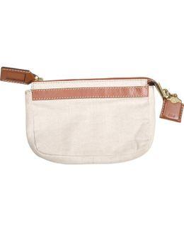 Pre-owned Beige Cloth Clutch Bag
