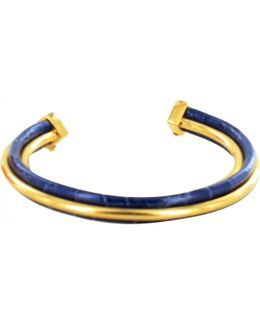 Pre-owned Blue Exotic Leathers Bracelet