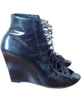 Pre-owned Black Leather Heels