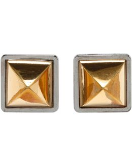 Pre-owned Gold Metal Earrings Medor