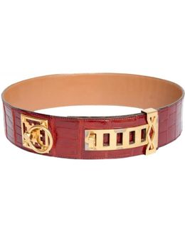Pre-owned Red Exotic Leathers Belt