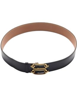 Pre-owned Gold Leather Belt
