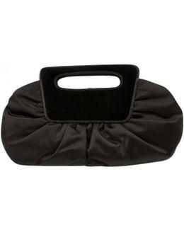 Pre-owned Black Velvet Clutch Bag