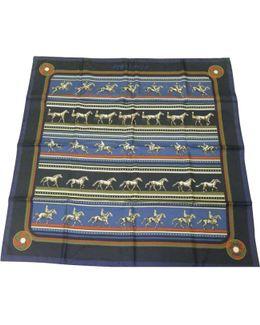 Pre-owned Black Silk Silk Handkerchief