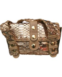 Pre-owned Gold Handbag
