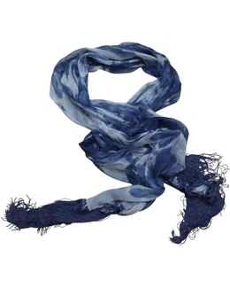 Pre-owned Blue Silk Scarf