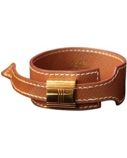 Pre-owned Brown Leather Bracelet