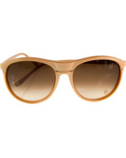 Pre-owned Beige Plastic Sunglasses