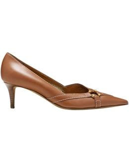 Pre-owned Camel Leather Heels
