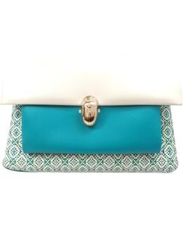 Pre-owned Turquoise Leather Handbag