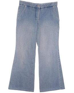 Pre-owned Blue Cotton - Elasthane Jeans