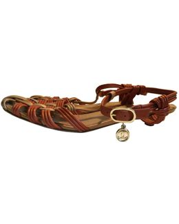 Pre-owned Leather Sandal