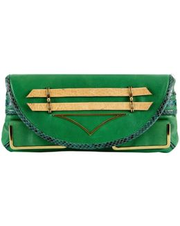 Pre-owned Leather Clutch Purse