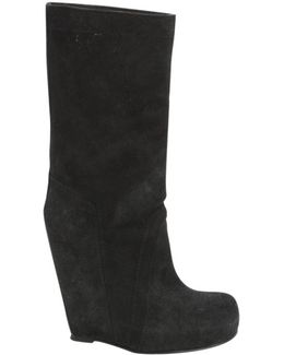 Pre-owned Black Suede Ankle Boots