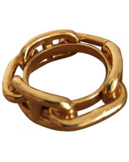Pre-owned Gold Metal Ring Chaîne D'ancre
