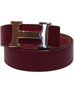 Pre-owned Boucle H Leather Belt