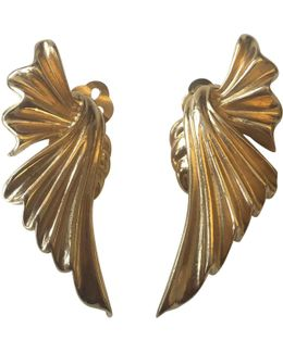 Pre-owned Gold Metal Earrings