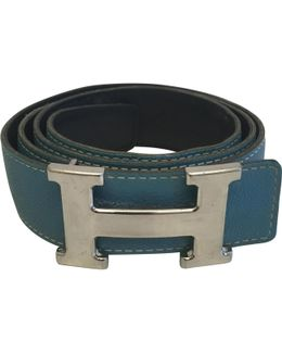 Pre-owned H Leather Belt