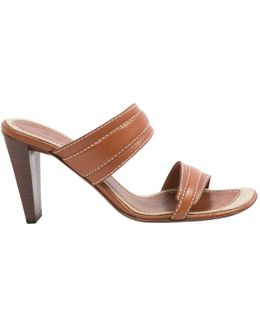 Pre-owned Leather Mules