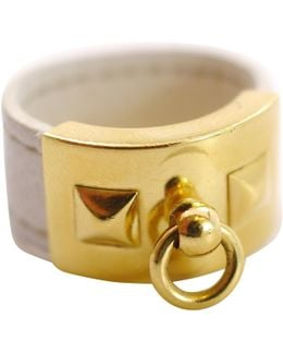 Pre-owned Collier De Chien Leather Ring