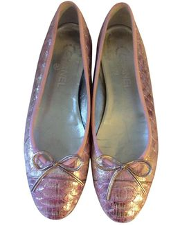 Pre-owned Exotic Leathers Ballet Flats