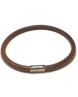 Pre-owned Leather Necklace