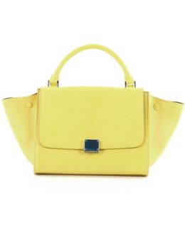 Pre-owned Yellow Leather Handbag