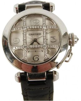 Pre-owned Pasha C White Gold Watch