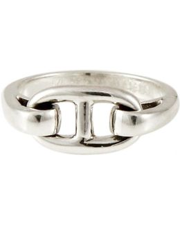 Pre-owned Chaîne D'ancre Silver Ring