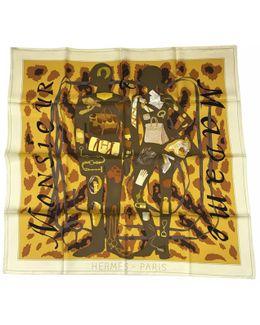 Pre-owned Carré Silk Silk Handkerchief