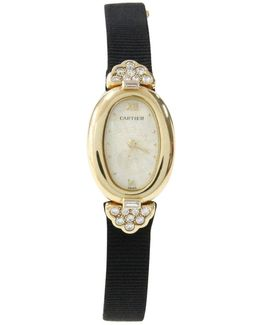 Pre-owned Baignoire Yellow Gold Watch