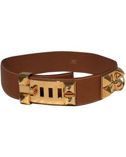 Pre-owned Collier De Chien Leather Belt