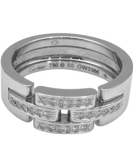 Pre-owned Maillon Panthère White Gold Ring