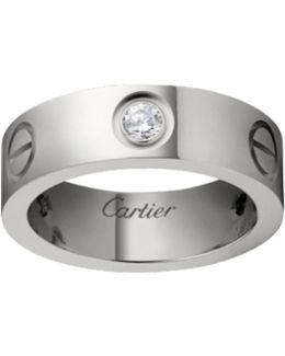 Pre-owned Love White Gold Ring