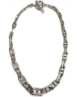 Pre-owned Chaîne D'ancre Silver Necklace