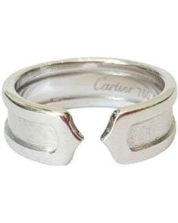 Pre-owned C White Gold Ring