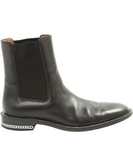 Pre-owned Leather Ankle Boots