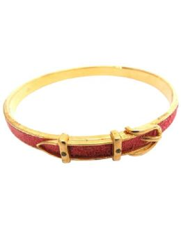 Pre-owned Red Metal Bracelet