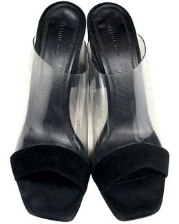 Pre-owned Black Suede Sandals