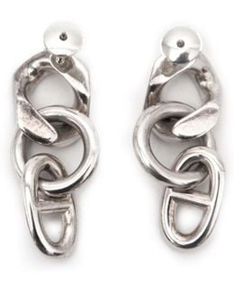 Pre-owned Chaîne D'ancre Silver Earrings