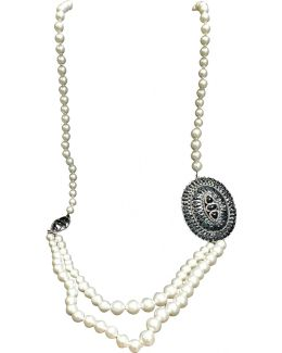 Pre-owned Pearl Long Necklace