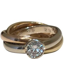 Pre-owned Trinity Yellow Gold Ring